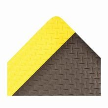 NoTrax 479S0035YB Rectangle Anti-Fatigue Floor Mat, 3 ft W x 5 ft L, 9/16 in THK, Black and Yellow, Vinyl Top