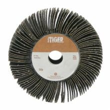 Tiger 53286 Unmounted Coated Abrasive Flap Wheel, 6 in Dia, 1 in W Face, 60 Grit, Medium Grade, Aluminum Oxide Abrasive