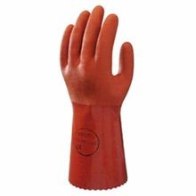 Atlas by Showa Best 620 Double Dipped Chemical Resistant Gloves, SZ 9/L, Orange, PVC