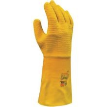 Showa Best 65NFW The Original Nitty Gritty Chemical Resistant Coated Gloves, SZ 11/XL, Yellow, Natural Rubber
