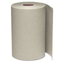 JS WIN108 Nonperforated Paper Towel Roll, 8 x 350ft, Brown, 12 Roll/Carton