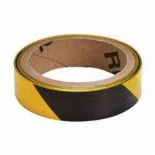 Brady 91237 Economy Grade Light Weight Barricade Tape, Diagonal warning stripes, 1 in W x 500 ft L, Black on Yellow, Polyethylene
