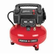 Porter-Cable C2002 Oil Free Electric Air Compressor, 3.5 scfm at 40 psi, 0.8 hp, 150 psi, Pancake 6 gal Tank