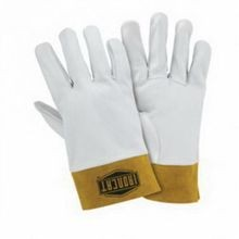 Ironcat 6140/S Premium Grade Welding Gloves, S, Off-White, Straight Thumb, Top Grain Kidskin Leather