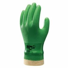 Atlas by Showa Best 600 Fully Coated Gloves, L, Green, Seamless