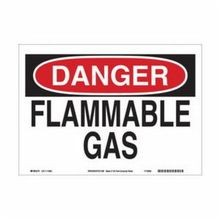 Brady 116156 Eco-Friendly Rectangle Danger Sign, 10 in H x 14 in W, Black/Red on White, Surface Mount, B-563 Plastic