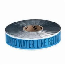 Brady Identoline 91603 Underground Warning Tape, CAUTION BURIED WATER LINE BELOW, 2 in W x 1000 ft L, Black on Blue, B-721 Aluminum/Polyester