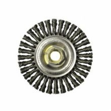 Mini Roughneck 13131P Root Pass Weld Cleaning Brush With Nut, 4 in Dia x 3/16 in W, 5/8-11 UNC, 0.02 in