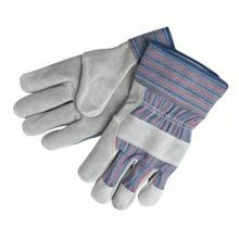 Memphis 1300S B-Grade Leather Palm Gloves, S, Cowhide Leather Palm, Gray, Gunn Cut/Standard Finger/Wing Thumb, Cowhide Leather