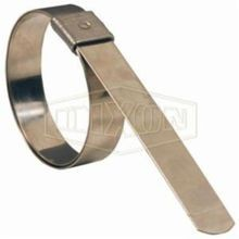 Dixon KS8 K Series Universal Pre-Formed Band Clamp, 2 in ID x 0.03 in THK, 300 Stainless Steel, Domestic