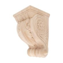 Hand Carved Unfinished | Solid North American Hardwood Corbel | RWC34 Series