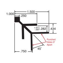 3/4in Black Finish Aluminum | 90 Degree Outside Corner Channel | 12ft Length