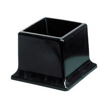 2in Sq | Black Low Density Polyethylene | Outside End Cap for Tubing, Iron Pipe and Wire