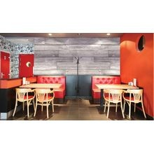 6in W x 46-1/2in Long x 3/8in Thick | Seaside Grey | Urethane Composite | Plank It Wallscapes Wallcovering