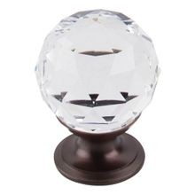 Clear Crystal Knob Oil Rubbed Bronze Base