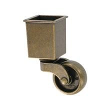 1-1/2in | Brushed Chrome Finish | Square Cup Solid Brass | Furniture Caster