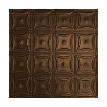 2' Square Antique Expresso Lay In Premium Decorative Stamped Steel Ceiling Panel