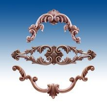 Decorative Architectural Polyurethane Scrolls