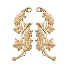 Hand Carved Unfinished | Solid White Hardwood Applique | WHC86 Series
