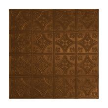 2' Square Antique Copper Lay In Premium Decorative Stamped Steel Ceiling Panel