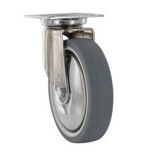 4in Dia | Gray Swivel Super Series Institutional Caster | Square Top Plate 2-3/8in x 2-3/8in