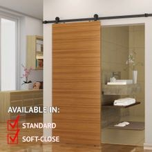 Sliding Barn Door Hardware Kits for Single Wood Doors Black Powder Coated Finish
