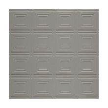 2' Square Silver Grey Lay In Premium Decorative Stamped Steel Ceiling Panel