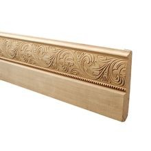 6in High x 11/16in Proj | Embossed Poplar Wood Baseboard Moulding | Style ADM278 | 8ftLong