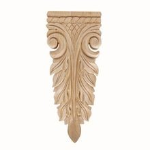 Hand Carved Unfinished | Solid North American Hardwood | Deco Applique | RWC05 Series