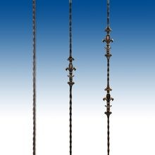 Regal Collection: Square Hammered Fleur De Lis Design Balusters