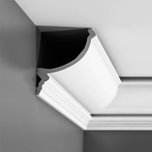 Orac Decor | High Density Polyurethane Crown Moulding for Indirect Lighting | Primed White  | 6-3/4in H x 5-3/4in Proj x 8-5/8in Face