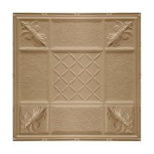 2' Square Warm White Lay In Premium Decorative Stamped Steel Ceiling Panel