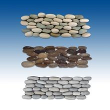 "2-Sided 4""x12"" Interlocking Tiles Round Stacked Stone"