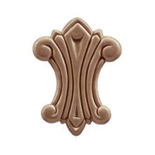 2-11/16in W x 3-11/16in H | Unfinished Maple Embossed Wood Veneer | Small Applique