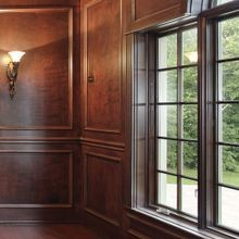 Embossed Wood Panel, Chair Rail and Wainscot Moulding