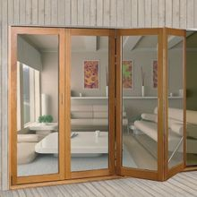 Top Sliding Folding Door System (Wood Doors-4 Doors) I9k I9l