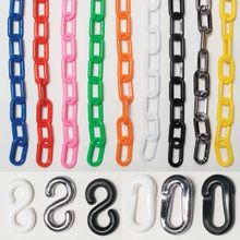 Plastic Chain, S-Hooks and Connectors