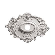 Focal Point | 21in H x 30-3/8in W | Primed White Polyurethane | Decorative Ceiling Medallion