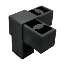 Black Dupont Super Toughened Nylon 3Way Corner Connector
