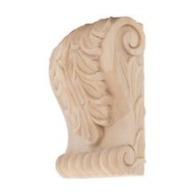 Hand Carved Unfinished | Solid North American Hardwood Corbel | RWC06 Series