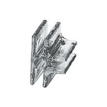 3-Way Clipmaster Panel Connector for 3/16in Panels | Clear Lexan | 1/2in x 1-1/2in