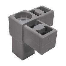 Grey Dupont Super Toughened Nylon 3Way Connector with Heavy Duty Caster Socket