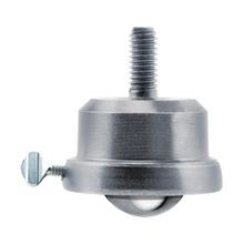 1in Dia | Carbon Steel | Ball Transfer Industrial Caster | 5/16-18 x 1in Threaded Stem with Brake