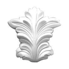 4in H x 1-1/4in Proj | Primed White | High Density Polyurethane | Keystone Applique Used with RPS-0376 Casing Moulding
