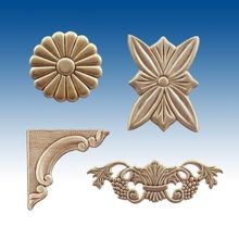 Embossed Wood Appliques and Brackets