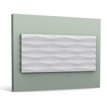 Orac Decor | High Density Polyurethane | 3D Decorative Covering | Ridge Wall Element | Primed White | 9-7/8in H
