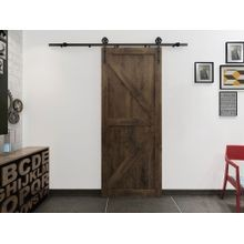 Sliding Barn Door Hardware Kits for Lighter Duty Single Wood Doors Up to 39in W | Stainless Steel Finish | 78-3/4in Rail Length