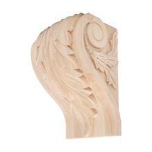 Hand Carved Unfinished | Solid North American Hardwood Corbel | RWC50 Series