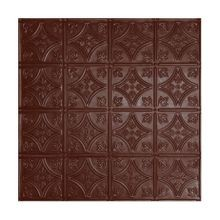 2' Square Classic Burgundy Lay In Premium Decorative Stamped Steel Ceiling Panel