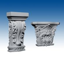Pilaster Resin Capitals
